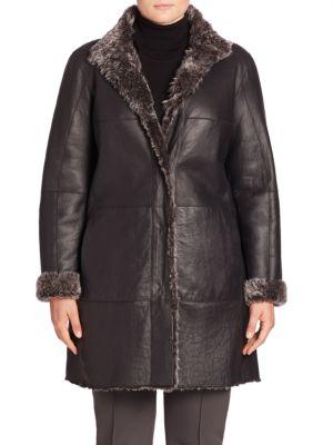 Reversible Shearling Coat plus size,  plus size fashion plus size appare