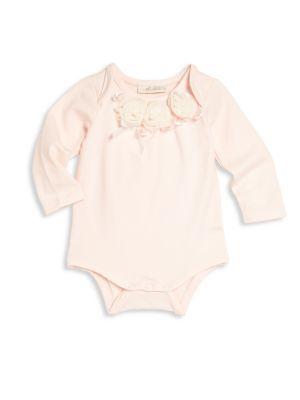 Baby's Two-Piece Floral Applique Bodysuit & Tulle Skirt Set plus size,  plus size fashion plus size appare
