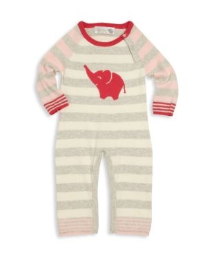 Baby's Cotton & Cashmere Elephant Coverall