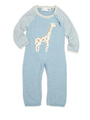 Baby's Cotton & Cashmere Giraffe Intarsia Coverall