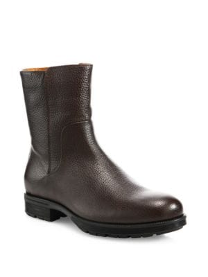 Logan Embossed Leather Mid-Calf Boots
