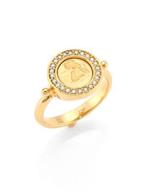 Angel Diamond & 18K Yellow Gold Ring