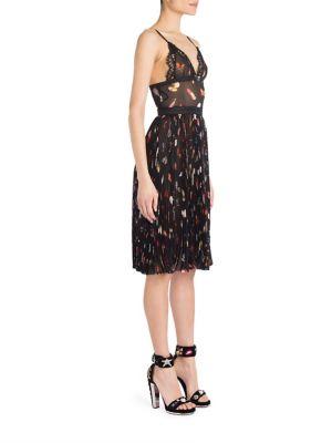 Silk Accordion Pleated Dress
