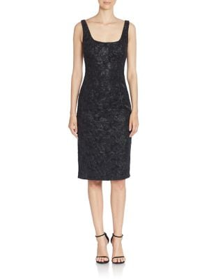 Sequin Embellished Sleeveless Sheath Dress