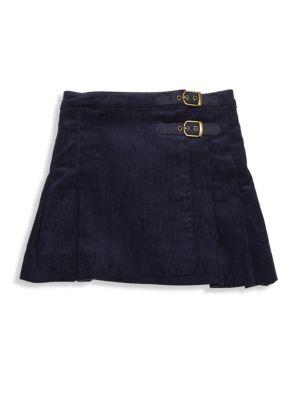 Toddler Girl's Pleated Cotton Skirt