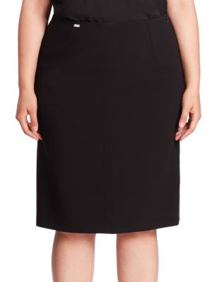 Crepe Pencil Skirt plus size,  plus size fashion plus size appare