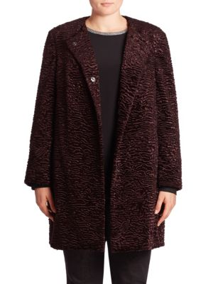 Faux Fur Coat plus size,  plus size fashion plus size appare