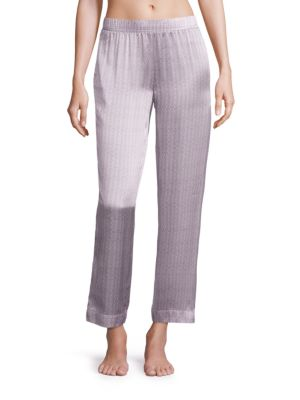 Ash Tile Silk Pajama Pants by Asceno