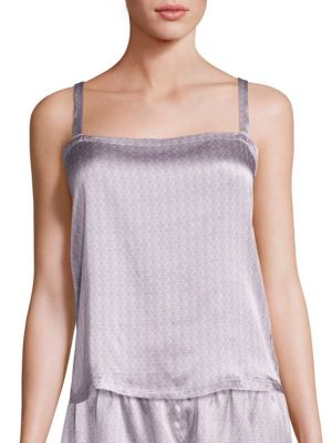 Ash Tile Box Silk Camisole by Asceno
