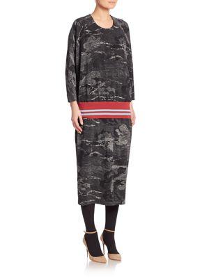 Sky Printed Drop Waist Dress
