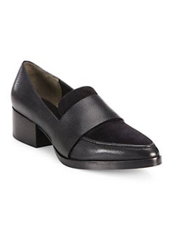 celine black and white loafers