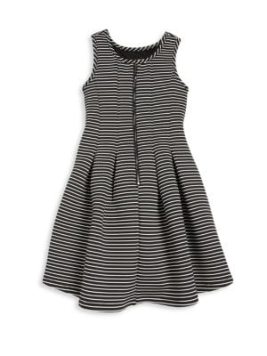 Girl's Striped Fit & Flare Dress