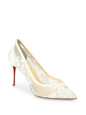 christian louboutin female neo floral lace pumps