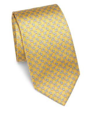 Dog Printed Silk Tie