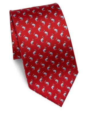 Dancing Shark Printed Silk Tie