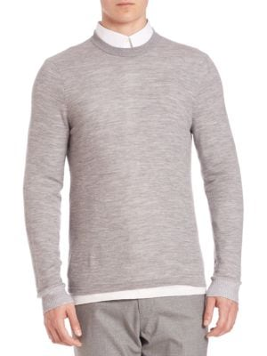 Double Layer Crewneck Sweater