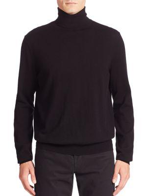 Featherweight Cashmere & Wool Turtleneck Sweater