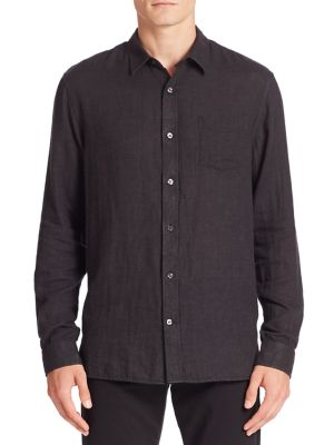 Lightweight Double Weave Button-Down Shirt