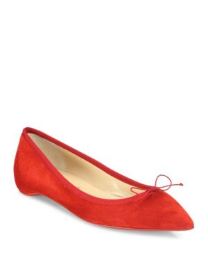 christian louboutin female solasofia suede point toe flats