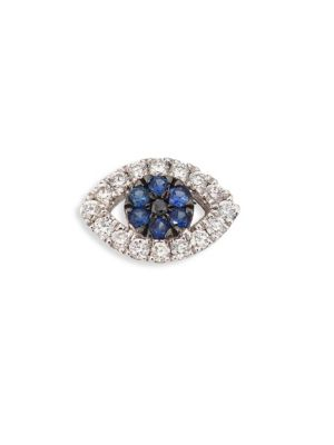 Evil Eye Diamond & Blue Sapphire Charm