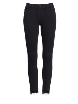 Le Skinny De Jeanne Raw-Edge Step Hem Jeans