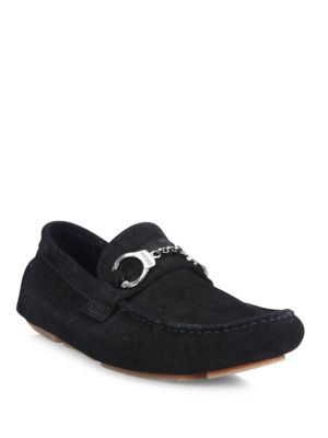Handcuff Leather Loafers