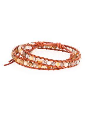 African Opal Mix Double-Wrap Bracelet