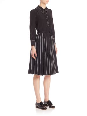 marc jacobs female 188971 long sleeve solid dress