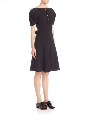 marc jacobs female 188971 short sleeve silk dress
