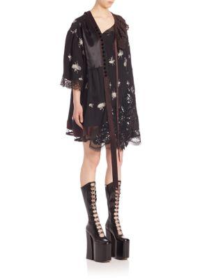 marc jacobs female 188971 elbowlength sleeve printed shift dress