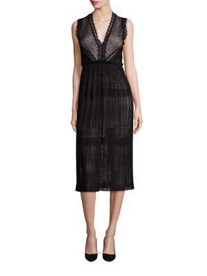 Bryana V-Neck Lace Midi Dress