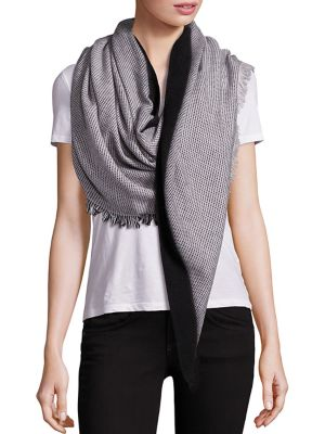 Dot Triangle Wool Scarf