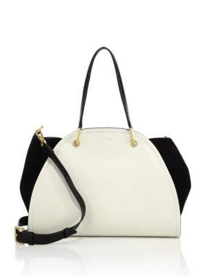 Peyton Small Leather & Suede Tote