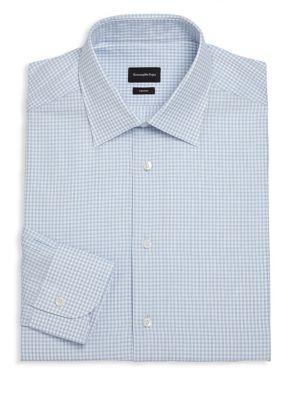Checked Regular-Fit Cotton Dress Shirt