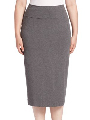 Heathered Pencil Skirt plus size,  plus size fashion plus size appare