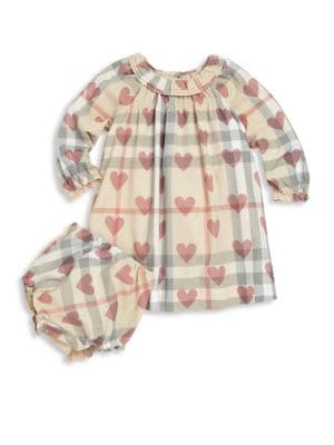 Baby's Checked Dress and Bloomers Set