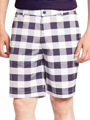 Golf Stretch Gingham Plaid Shorts