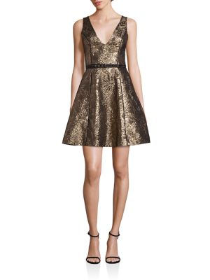 Gabriel Metallic Brocade Dress