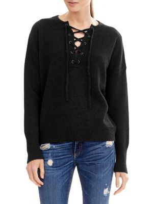 Dylan Lace Up Sweater