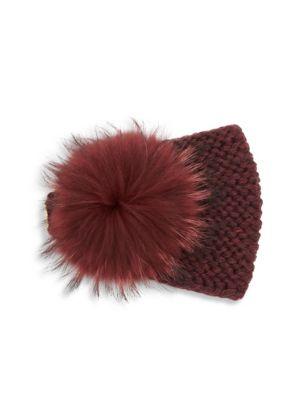 Fox Fur Pom-Pom & Cashmere Kerchief