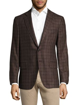 Plaid Regula-Fit Blazer