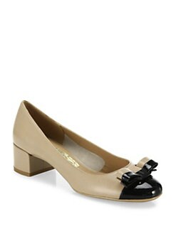 Salvatore Ferragamo Elea Leather Colorblock Pumps