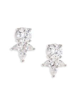 Monarch Pointed Cluster Stud Earrings