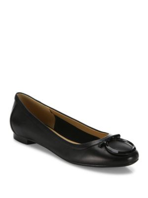 Ena Tonal Leather Ballet Flats