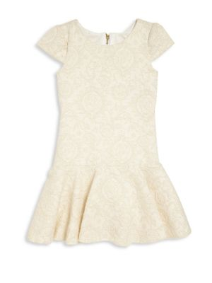 Girl's Embroidered Slim-Fit Dress