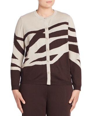 Printed Long Sleeve Wool Jacket plus size,  plus size fashion plus size appare
