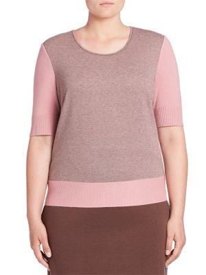Short Sleeve Roundneck Tee plus size,  plus size fashion plus size appare