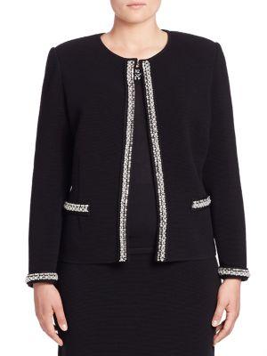 Ribbed Long Sleeve Jacket plus size,  plus size fashion plus size appare