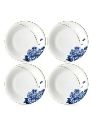Emperor Flower Canape Plate/ Set of 4