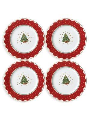 My Noel Canape/Dessert Plate/ Set of 4